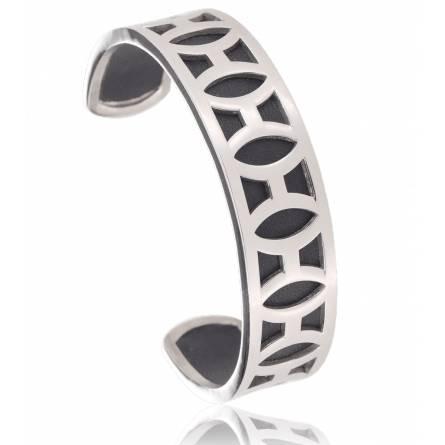 Perceptible leather bracelet