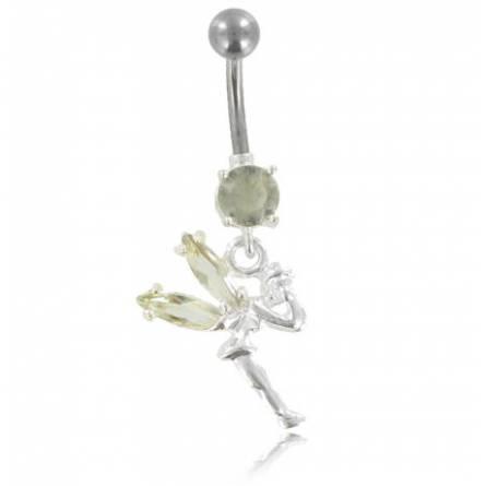 Piercing femei oțel Maeva fairy alb