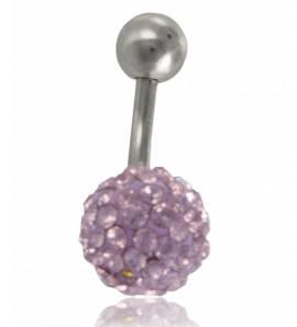 Piercing femei oțel Zeno roz