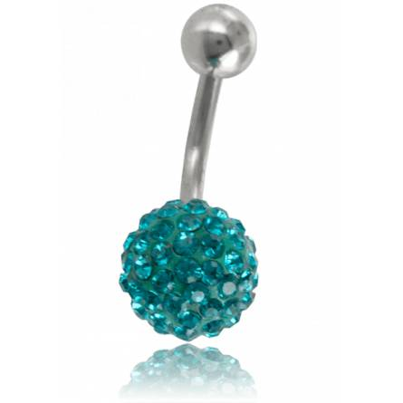 Piercings dames roestvrijstaal Zéphyrin turquoise