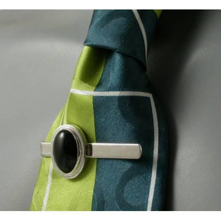 Pince à cravate Néo Berbère agathe noire