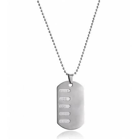 Placa militar barbati oțel Nassia zale bile