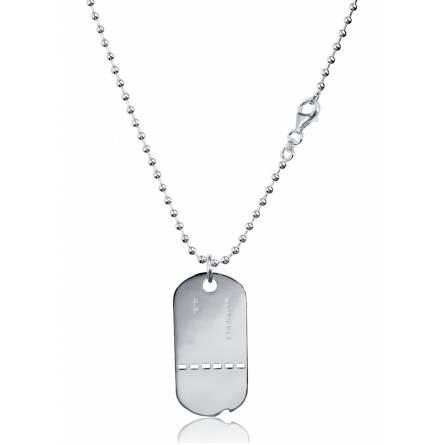 Placca militare uomo argento Militaire