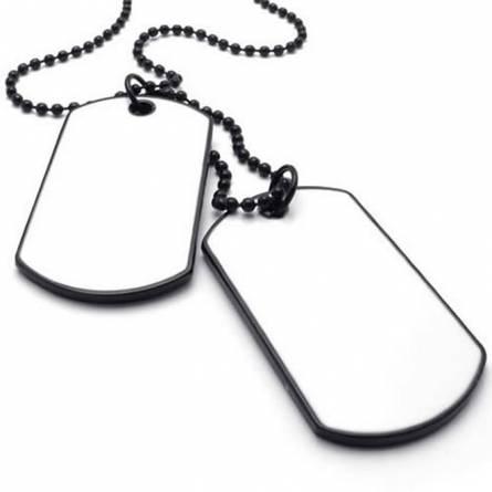 Plaque militaire Dog White