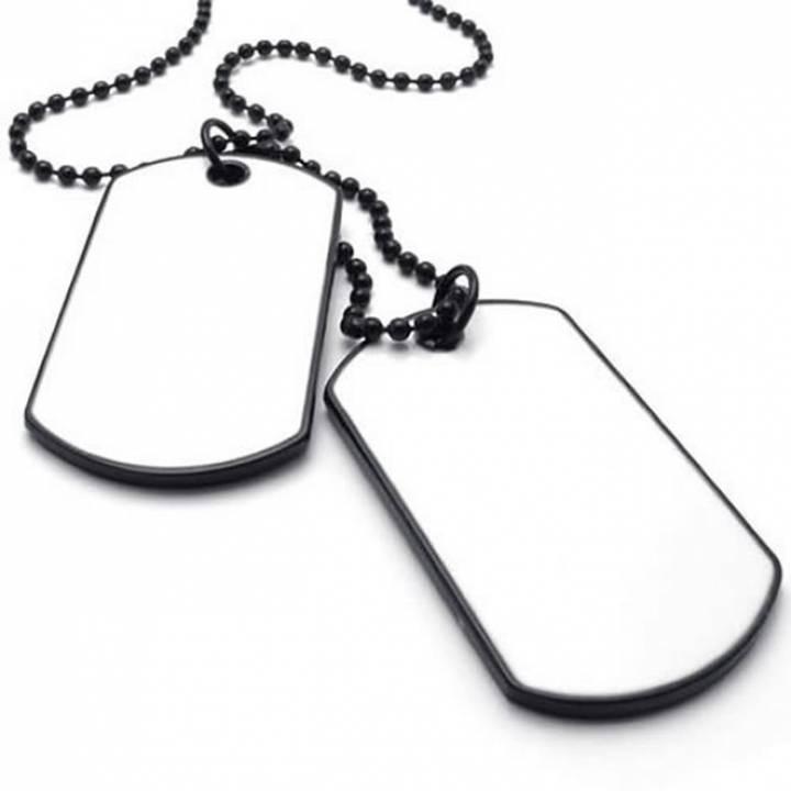 plaque militaire homme acier blanc 24032. Black Bedroom Furniture Sets. Home Design Ideas