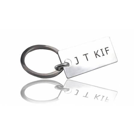 Portachiavi uomo argento J T KIF