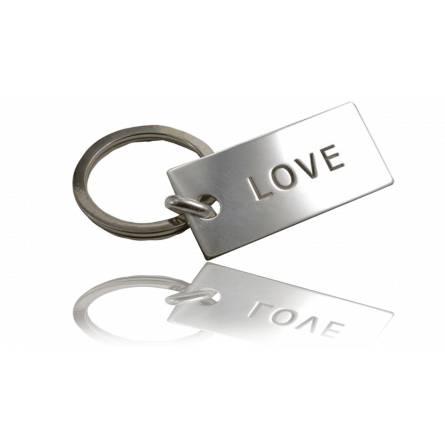 Portachiavi uomo argento LOVE