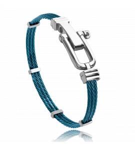 Pulseira masculino aço Carmel azul