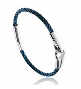Pulseira masculino aço Hayden azul