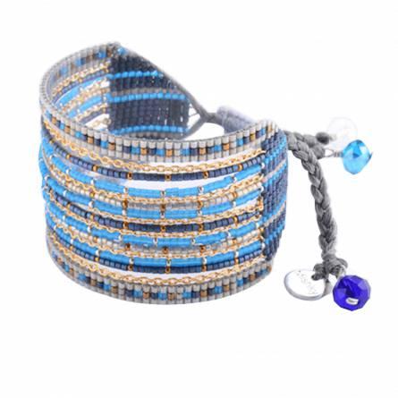 Pulsera mujer fils-cordon azul