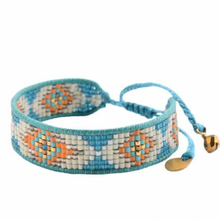 Pulsera mujer fils-cordon turquesa