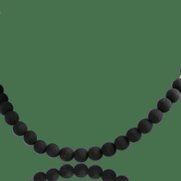 collier homme pierre noire