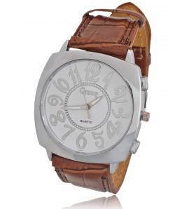 Relógio feminino couro Gressy marrom