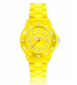 Relógio feminino plástico Ice Solide amarelo