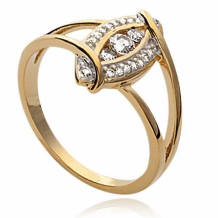Ringe frauen goldplattiert Adoration discrète
