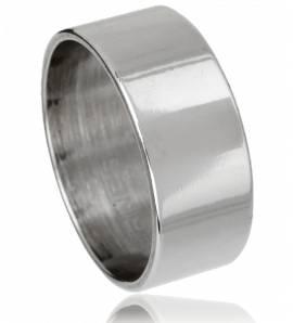 Ringe herren stahl Chrome grau