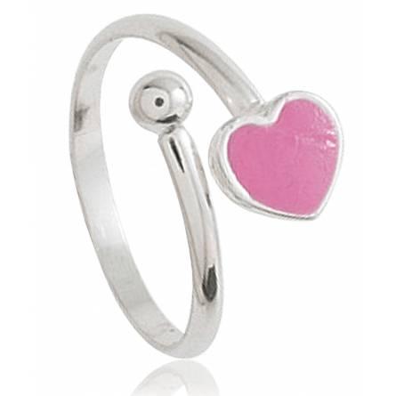 Ringe kind silber Amour rosa