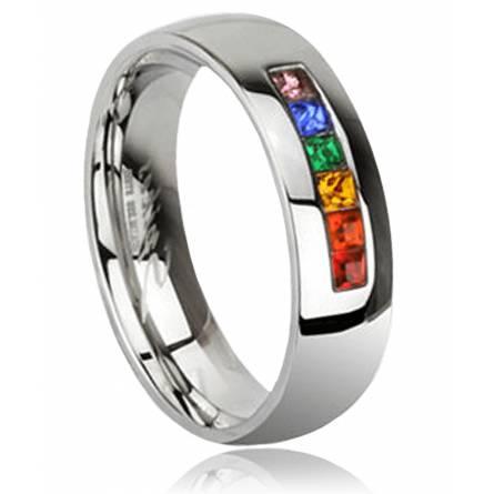 Ringe stahl Anneau rainbow