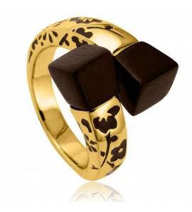 Ringen dames verguld Gold Kyoto geel
