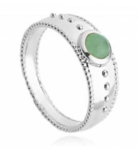 Ringen dames zilver Aaliyah groen