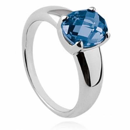 Ringen dames zilver Abigayle blauw