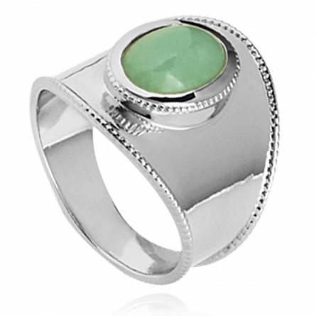 Ringen dames zilver Abishag groen
