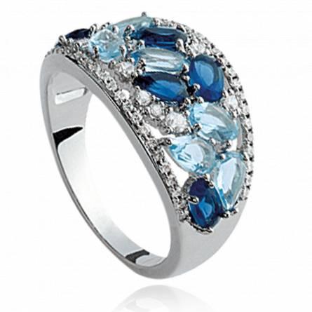 Ringen dames zilver Alcippe blauw