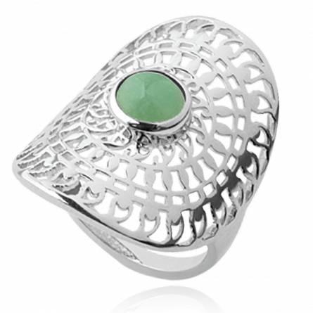 Ringen dames zilver Alisia groen