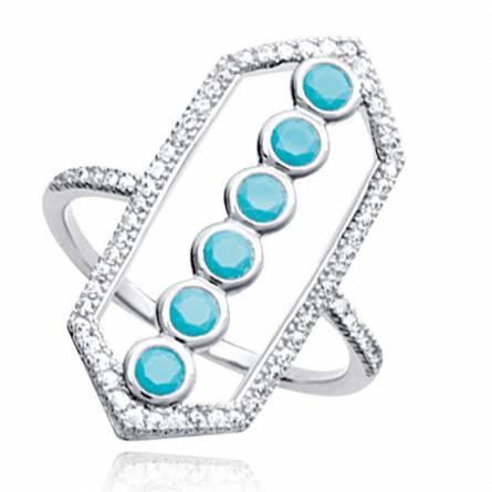 Ringen dames zilver Althea turquoise