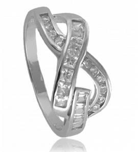 Ringen dames zilver Croisé 2