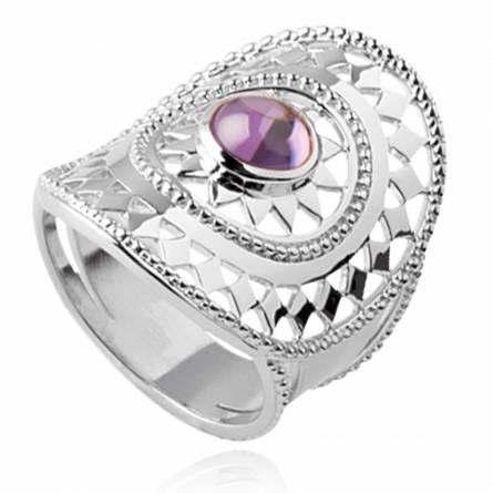 Ringen dames zilver Jade paars