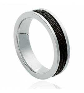 Ringen heren roestvrijstaal élégance zwart