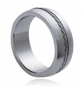 Ringen heren roestvrijstaal Cables 1