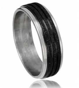 Ringen heren roestvrijstaal Prestidigation zwart