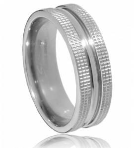 Ringen heren titanium  mouve