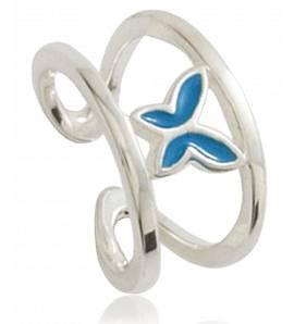 Ringen kind zilver Papillon éveillé blauw