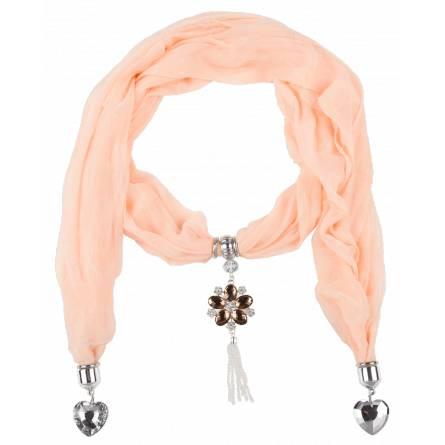 Schal frauen Saumon herz rosa