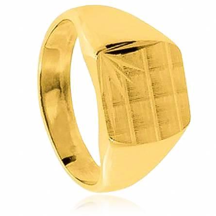 Siegelring herren goldplattiert Célestin gelb