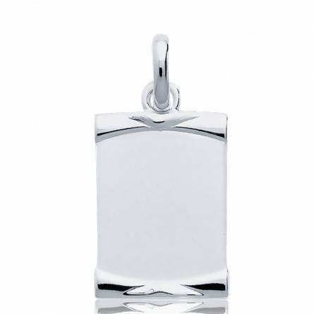 Silver pendant parchment