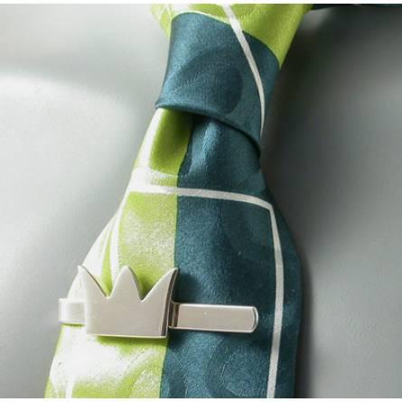 Silver Templar Tie Clip