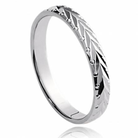 Silver Vinciane grey ring