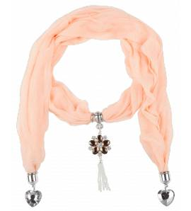 Sjaals dames Saumon harten roze