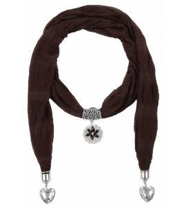 Sjaals dames Zéliha harten roodbruin