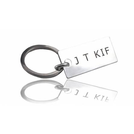 Sleutelhangers heren zilver J T KIF
