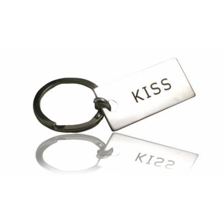Sleutelhangers heren zilver KISS