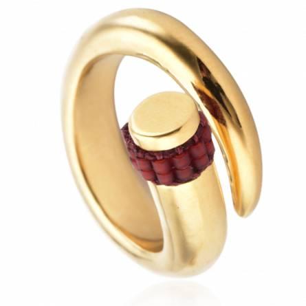 Spiral Ring Red