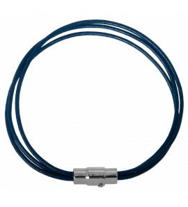 Stainless steel Condense blue bracelet