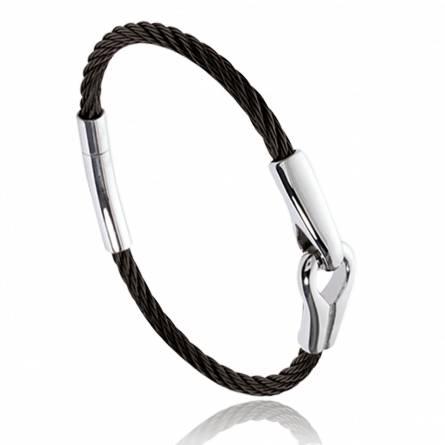Stainless steel Hayden black bracelet