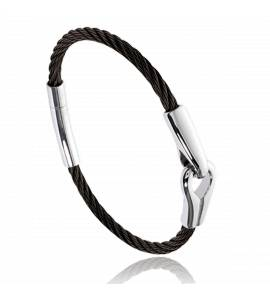 Stainless steel Hayden black bracelet