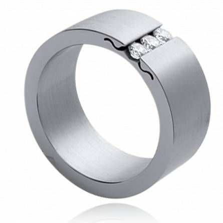 Stainless steel Maxim's combinaison ring